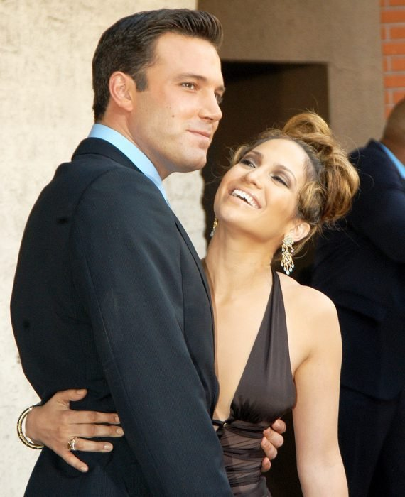 Jennifer Lopez and Ben Affleck Embraced