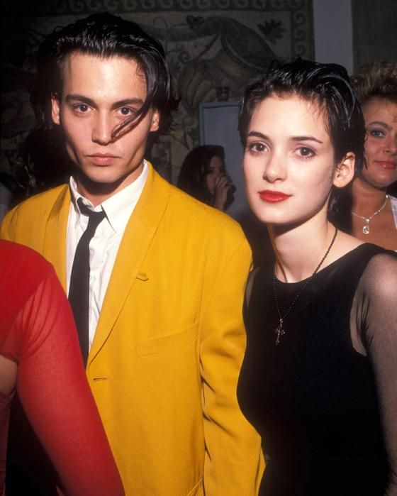 Johnny Depp and Winona Ryder together in awards