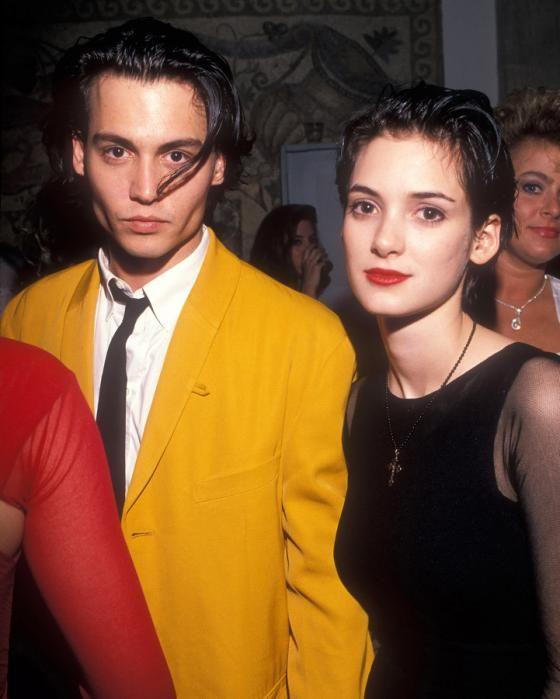 Johnny Depp y Winona Ryder juntos en premios