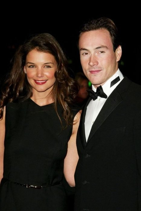Katie Holmes and Chris Klein couple smiling