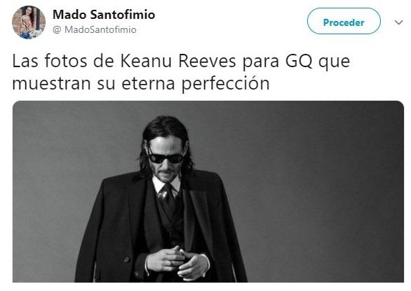 Keanu Reevees posando traje sastre para la revista GQ, Jhon Wick: Parabellum