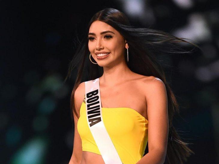La modelo Joyce Prado en el concurso de Miss Universo 2018
