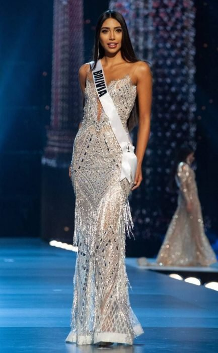 La modelo Joyce Prado en el concurso Miss Universo 2018