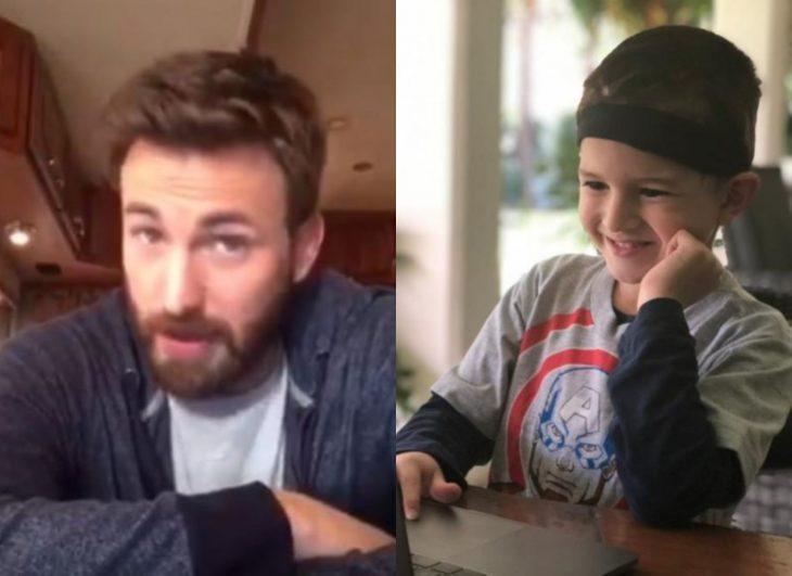 Chris Evans le envía mensaje conmovedor a niño Felipe Andres Muyshondt, fan del Capitán América