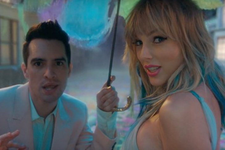 El cantante Brendon Urie y la cantante Taylor Swift en el nuevo video musical ME