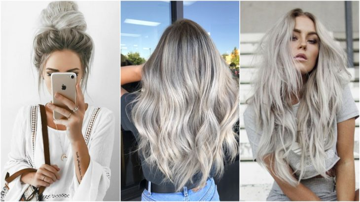 Chicas con cabello largo teñido platino, mostrando su melena en tendencia primaveral