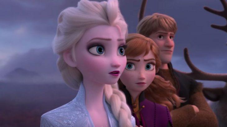 Imagen del nuevo trailer de la película Frozen 2 con los personajes de Elza, Ana Y Kristoff
