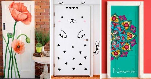 15 Modernas decoraciones que puedes hacerle a la puerta de tu habitación
