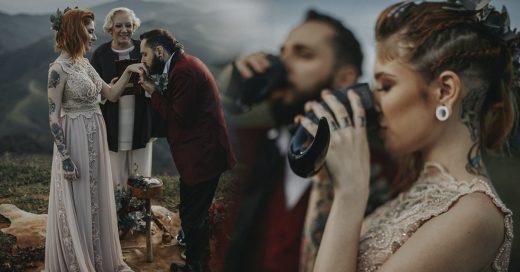 Cover Pareja brasileña se casa en boda vikinga para celebrar sus creencias