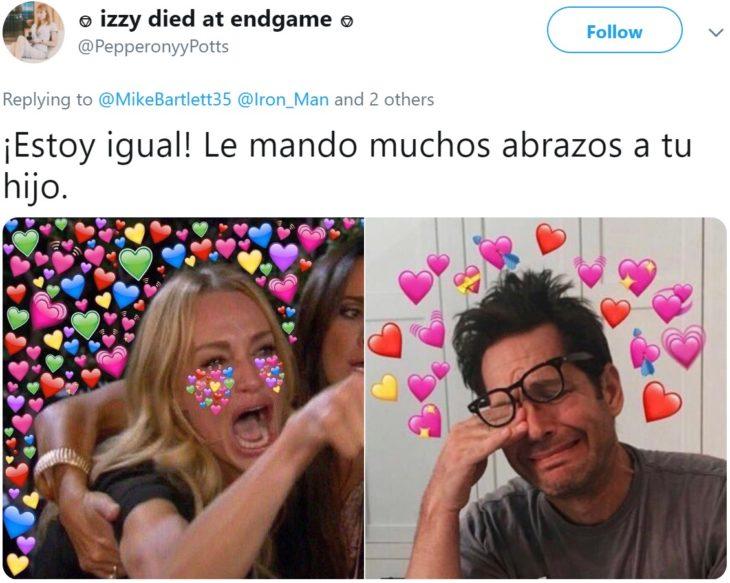 Papá comparte en Twitter que su hijo lloró hasta dormirse abrazado de sus juguetes de Iron Man después de ver la muerte de Tony Stark en Avengers: Endgame; meme de famosos llorando corazones