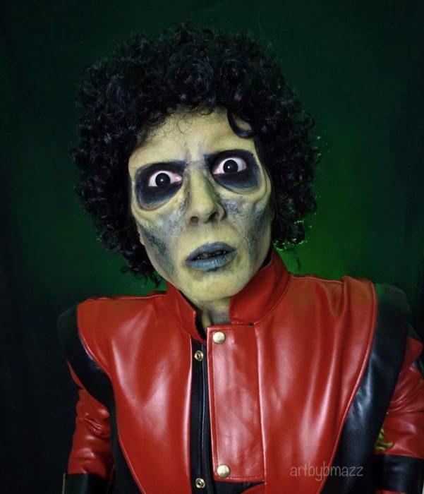 Brenna Mazzoni maquillada como zombie, Michael Jackson