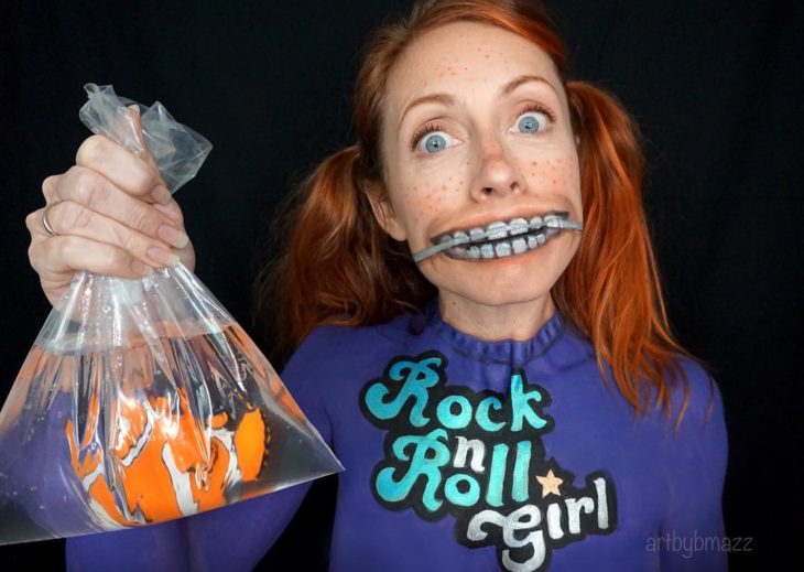 Brenna Mazzoni maquillada como Darla, Buscando a Nemo