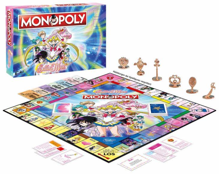 Tablero de Monopoly con los personajes de Sailor Moon