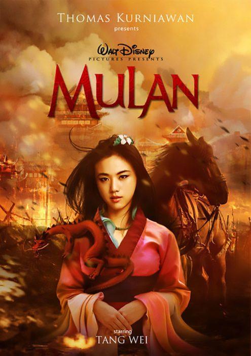 Poster de la película live action de Disney Mulan