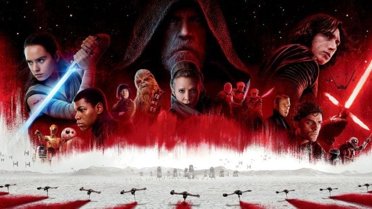 Poster de la película Star Wars con los personajes principales