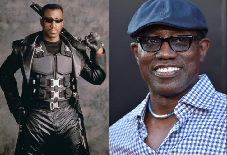 Wesley Snipes a la derecha interpretando el personaje de Blade, a la izquierda como luce actualmente