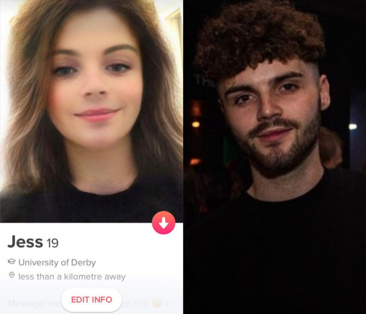 Jake Askew, man uses snapchat filter to change gender and receives many matches in Tinder