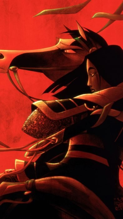 Wallpaper for Disney cell phone; Mulan wallpaper with armor on his horse