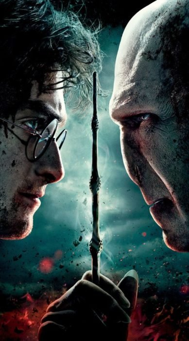 Harry Potter e Lord Voldemort guardano avanti