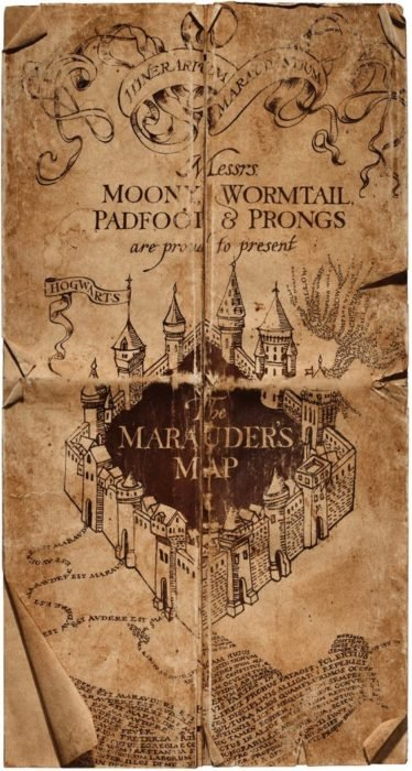 Fondos de pantalla inspirado en el mapa del Merodeador de Harry Potter