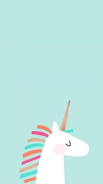 Fondo de pantalla para celular con dibujo de unicornio de perfil