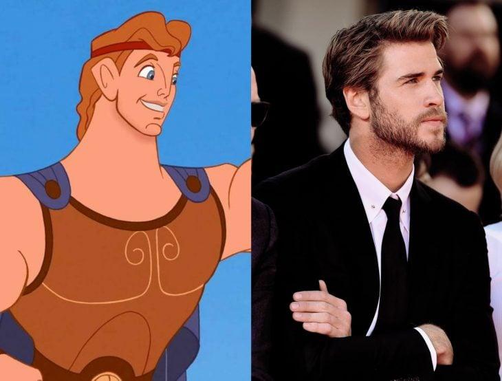 Versión live action de película de Disney, Hércules; Liam Hemsworth en traje negro