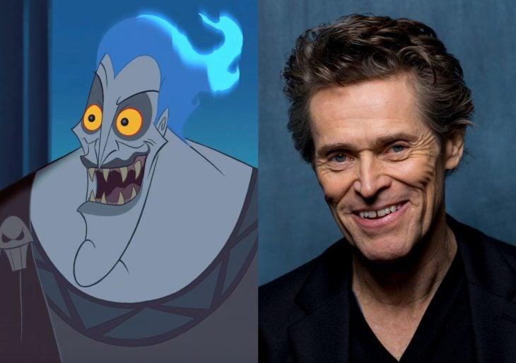 Versión live action de película de Disney, Hércules; actor Willem Dafoe como Hades, el dios del inframundo