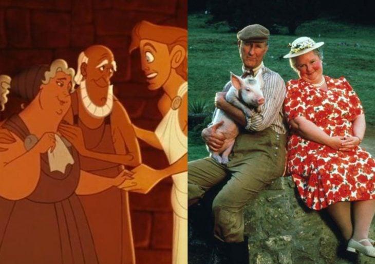 Versión live action de película de Disney, Hércules; actores de Babe el puerquito valiente, como Anfitrión y Alcmena