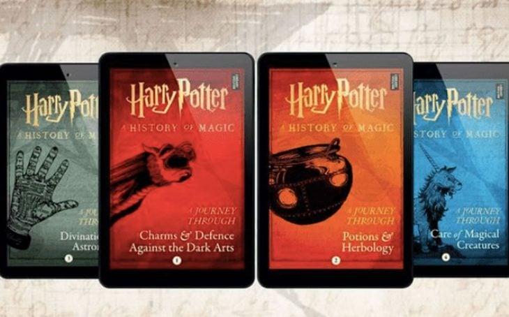 Portadas de los cuatro nuevos libros de Harry Potter escritos por J.K. Rowling