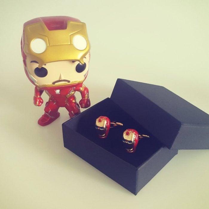Pendientes de fantasía con el rostro de Iron-Man,joyería inspirada en Marvel