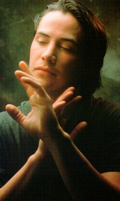Actor Keanu Reeves de joven