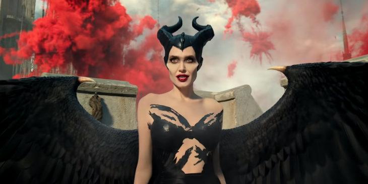 Actriz Angelina Jolie como Maléfica en la segunda parte de la película de Disney sobre la villana de La bella durmiente
