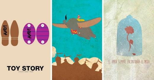 15 Posters de los clásicos de Disney que te harán querer ver de nuevo las películas