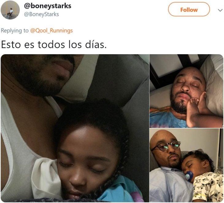 Papá publica bonitas y tiernas fotografías con sus hijos durmiendo de maneras incómodas