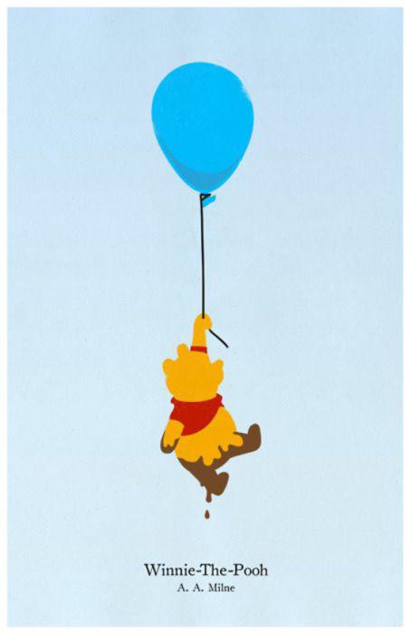 Poster minimalista y vintage de la película de Disney
