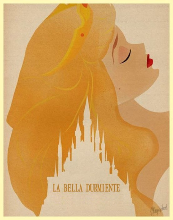 Poster minimalista de la película clásica de Disney