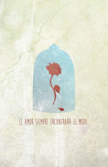 Poster con tonos minimalistas de la película clásica de Disney
