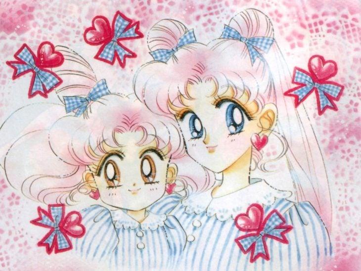 Curiosidades sobre caricatura Sailor Moon; Serena y Chibiusa con cabello rosa