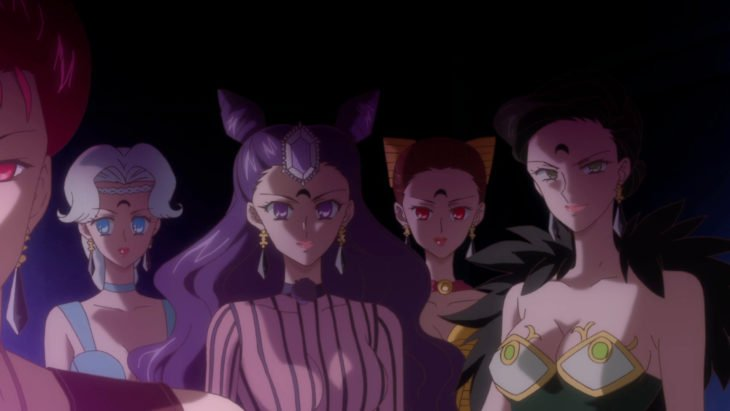 Curiosidades sobre caricatura Sailor Moon; cuatro hermanas de la persecución, villanas Petzite, Kalaberite, Berjerite y Karmesite