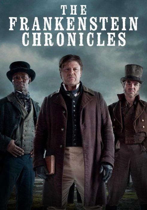 Serie de Netflix The Frankenstein Chronicles. Personas vestidas de época posando para ina fotografía