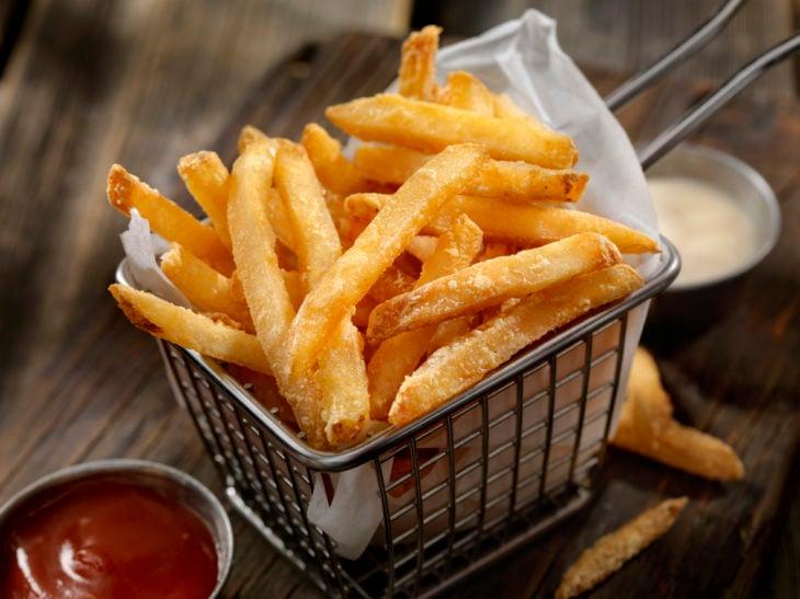 Papas fritas con poca grasa
