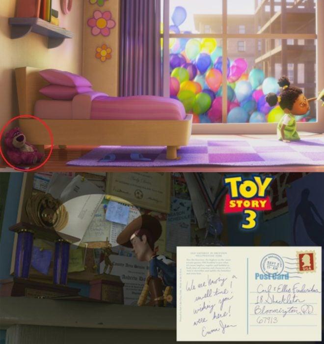 Curiosidades de película de Disney-Pixar, Up: una aventura de altura; referencias de Toy Story en Up