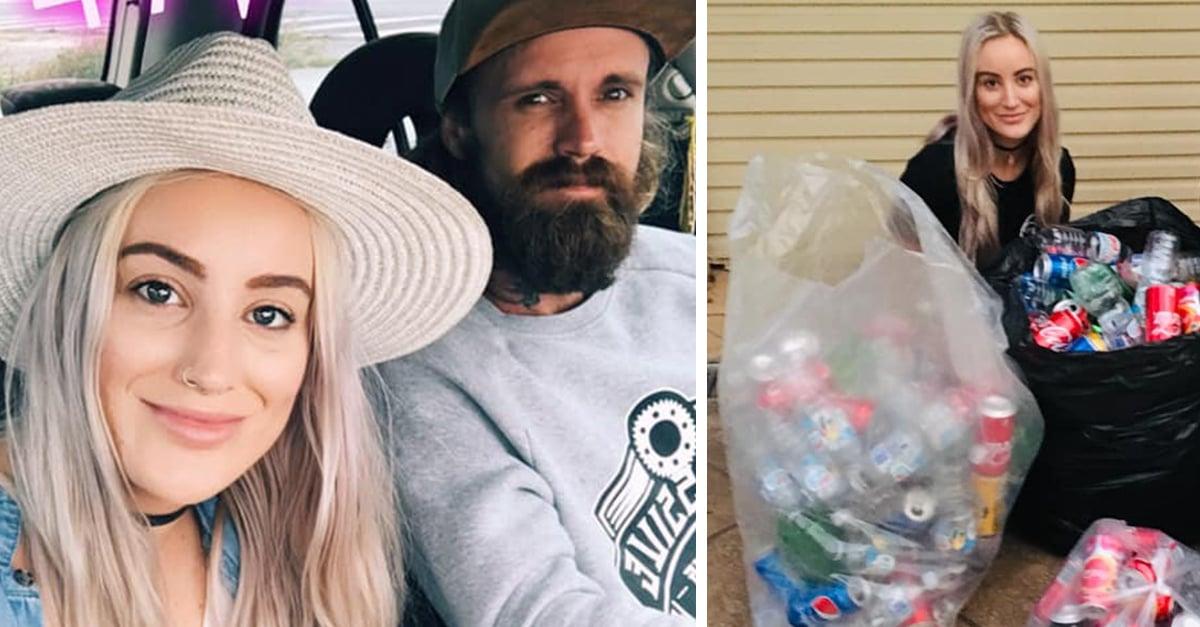 Pareja quiere pagar su boda reciclando botellas y latas