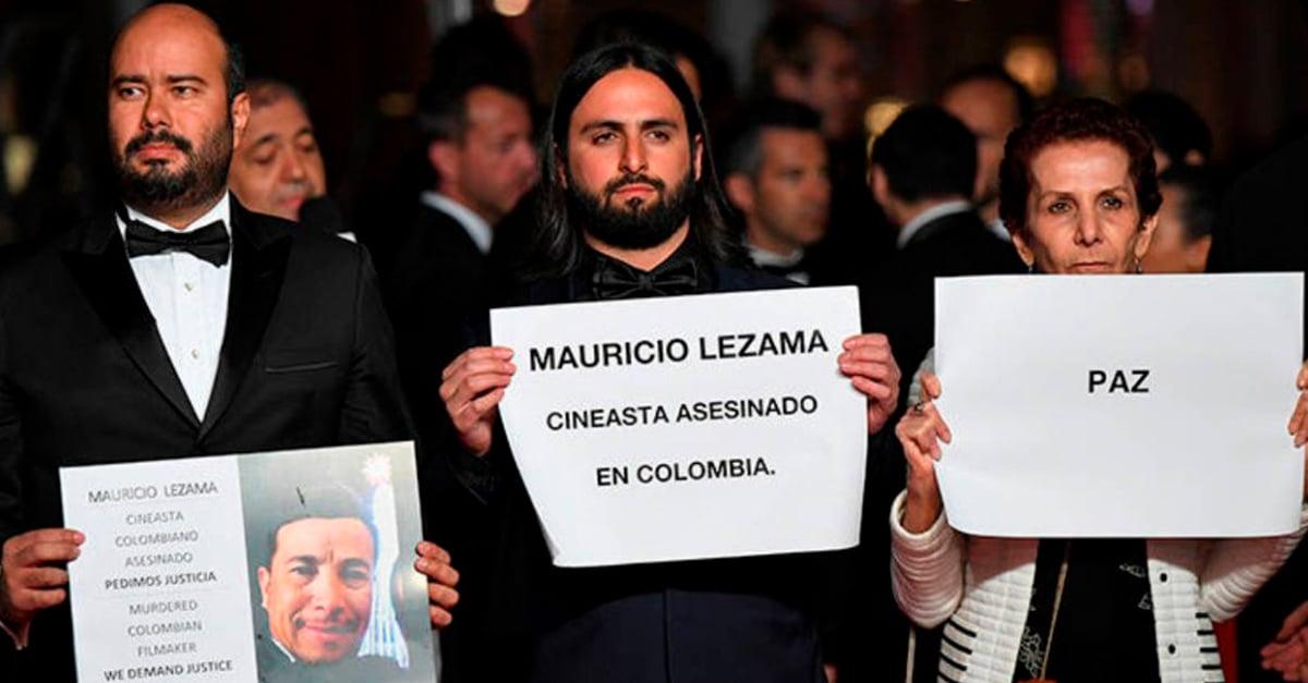 Protesta en la alfombra roja de Cannes por asesinato de cineasta colombiano