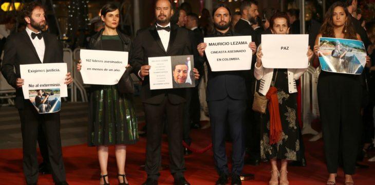 actores protestan en la alfombra roja de Cannes