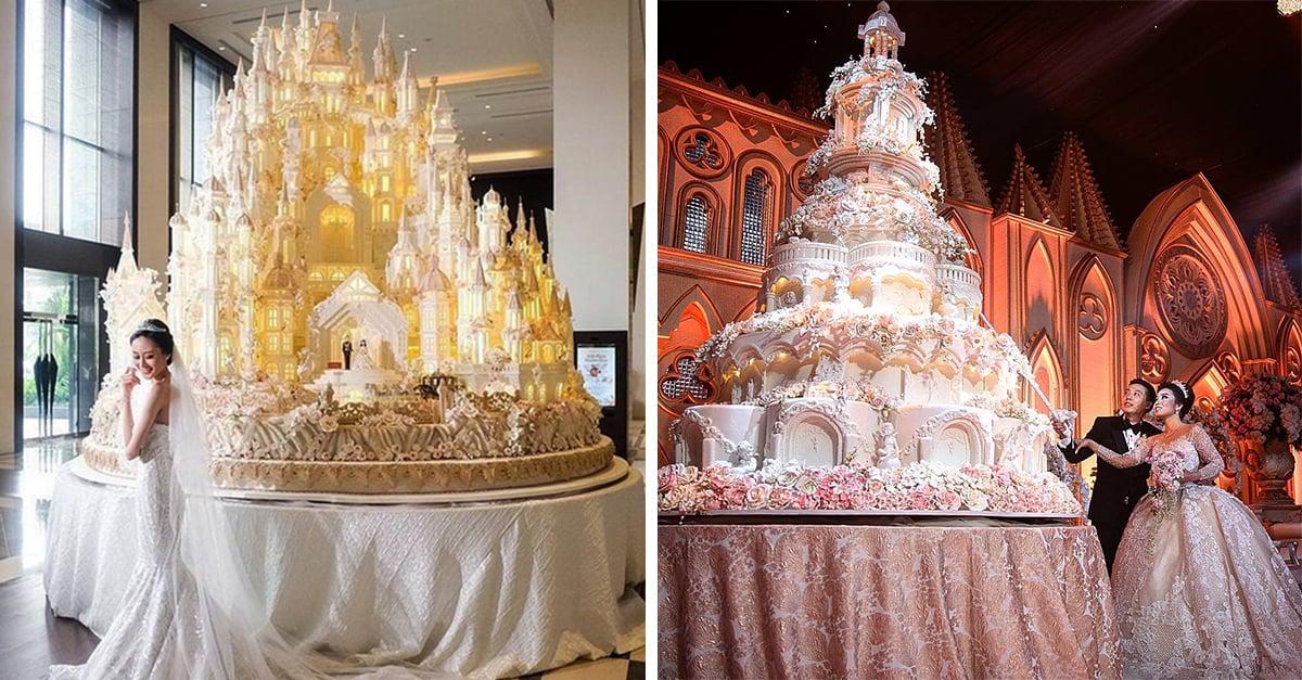 Pasteles enormes para boda