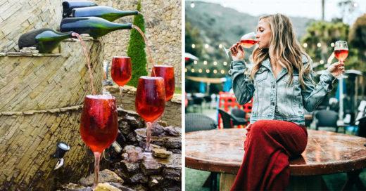 Existe una fuente de vino disponible las 24 horas del día