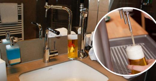hotel con tu propio tirador de cerveza en la habitación