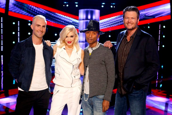 Adam Levine, Gwen Stefani, Pharrell Williams, Blake Shelton