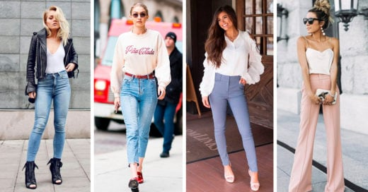 15 Outfits con pantalón de tiro pasar ser la diosa de la moda y la comodidad